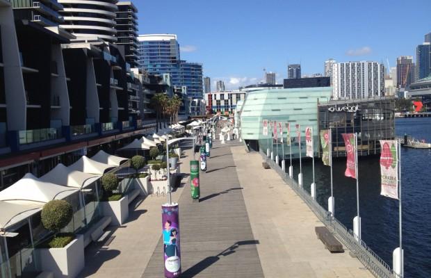 Docklands Boardwalk speakers